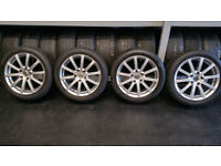 BMW 17 alloy wheels + 4 x tyres 205 50 17 Bridgestone Run Flat