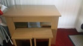 Lovely big solid table and chairs for sale need away asap