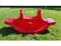 Seesaw red in good condition