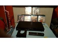 Toshiba blueray dvd player with 6 films