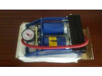 New unused car tyre foot pump with pressure guage