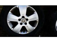 "Vectra C alloys 16"" 5 stud 215/55r16"