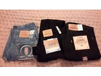 3 pairs of levi's brand new contition, still with all labels