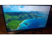"Samsung Ue43ku6000 43"" 4k smart led TV 2016 model"