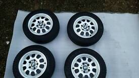BMW 4 Alloy Wheels With Winter Tyres 195/65/R15