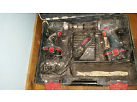 Bosch combi and Impact drill set