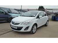 2012 Vauxhall corsa 1.2 petrol 3 door hatchback 12 months mot genuine low mileage