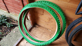 "lucky stone 26"" green mtb tyres"