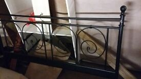Very nice iron work bed frame in satin black
