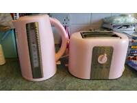 Kettle (1.7l) and toaster - Pink