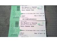 Rocky Horror tickets Saturday 10th September 2016 8.30pm 2 tickets