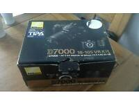 Nikon D7000 dslr camera and lens