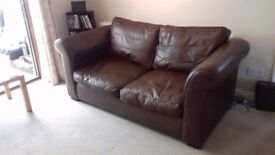 Laura Ashley leather sofa.