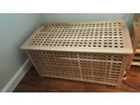 Pine linen storage chest / trunk