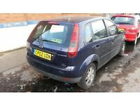 BREAKING FORD FIESTA STATE BLUE GHIA MK6 2002 5DR 1.3 PETROL MANUAL 89K