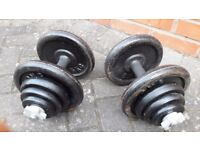 40KG CAST IRON DUMBBELLS WEIGHTS SET