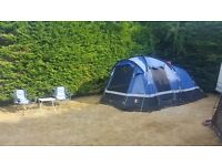 Voyager 4 tent (Hi Gear) with carpet,awning and footprint