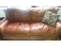 Leather sofa, 3 seater