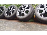 16 inch Vauxhall ASTRA VECTRA ZAFIRA ALLOYS WITH VERY GOOD TYRES 5 STUD 5 × 110