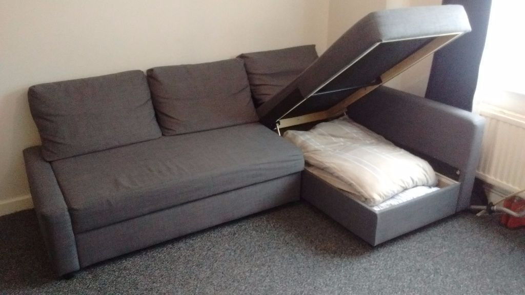 Friheten ikea corner sofa bed with storage in oxford for Sofa bed 3 2
