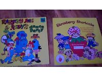 2 vinyl strawberry shortcake raggedy ann andy albums vintage RECORDS 3 FOR BOTH