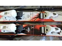Rossignol scratch 150 skis suit petite lady or youth