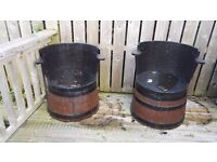 Half beer barrel garden chairs good condition one slightly damaged easily fixed