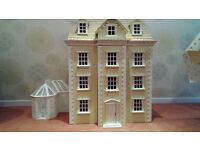 Edwardian Dolls House with Conservatory £100 ono