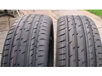 two brand new 205-50-17 tyres
