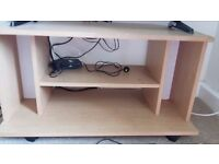 2 Chest Drawers and 1 TV wooden trolley small