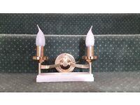 3 Franklite Brass Wall lights for Sale.
