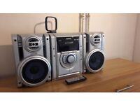 PANASONIC 200-WATT STEREO MINI SOUND SYSTEM 5-CD changer, mp3, cassette, radio, hi-fi, hifi SC-AK230