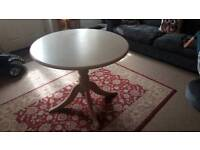 Round dining table 90cm diameter suit small spaces space saving seats 4