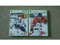 NHL 2K10 & NHL 10 Xbox 360