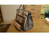 BEIGE LEATHER LADIES HANDBAGS