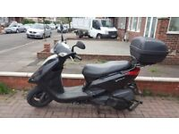 Yamaha Vity 125, black, 52L top box, Very Good Condition - XC125E