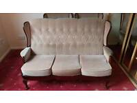Sofa and chairs.