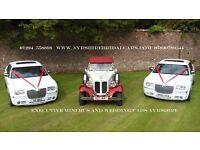 bespoke bridal cars ,matching white wedding cars & magic mirror photo booth hire Ayrshire
