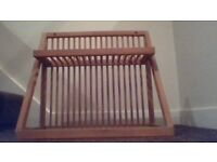 Solid pine plate storage rack for wall - ex-'Studio One', good condition