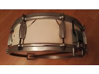 "Vintage & Rare John Grey 14"" X 5"" Snare Drum with John Grey Hot Snap Snare Wire"