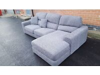 Great 1 month old grey fabric corner sofa. only used for few days.excellent condition.can deliver