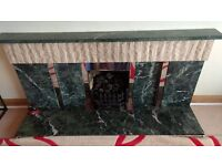 Green marble fireplace for sale