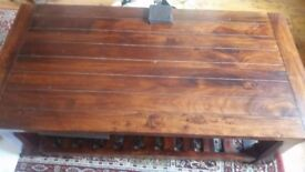 Large solid wood (sheesham) coffee table - very good condition