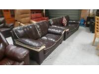 Ex harvey quality leather 3 &2 seater sofas can deliver 07808222995