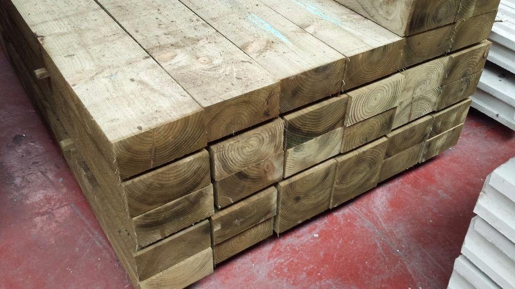 Pressure Treated Timber / Wood Railway Sleepers /