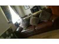 Italian leather sofas 3 seater and 2 seater