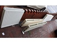 Radiators job lot with trvs and valves