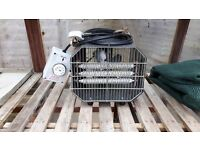 Green house heater and fan. In very good condition.