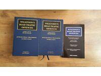 Wilkinsons Road Traffic Law; law books. £100