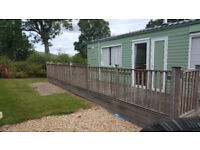 BK PARKSTONE STATIC 6 BERTH CARAVAN-SITED NEAR WELSHPOOL-FULLY REFURNISHED-2BEDS-2LOOS-LARGE DECK-